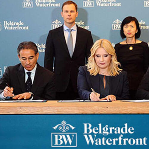 Belgrade Waterfront is announced as a joint venture with the Republic of Serbia