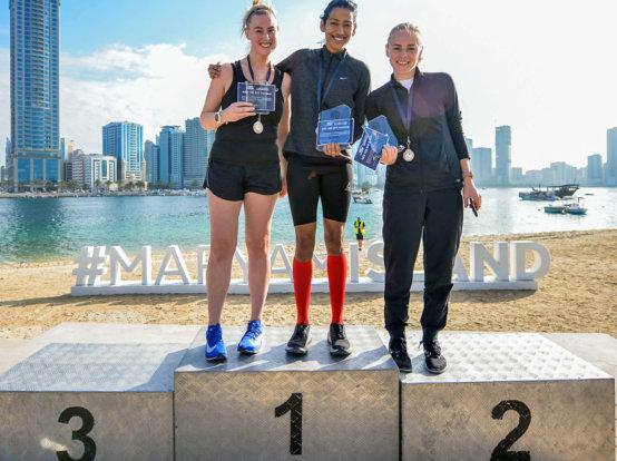 Winners at Maryam Island Fun Run