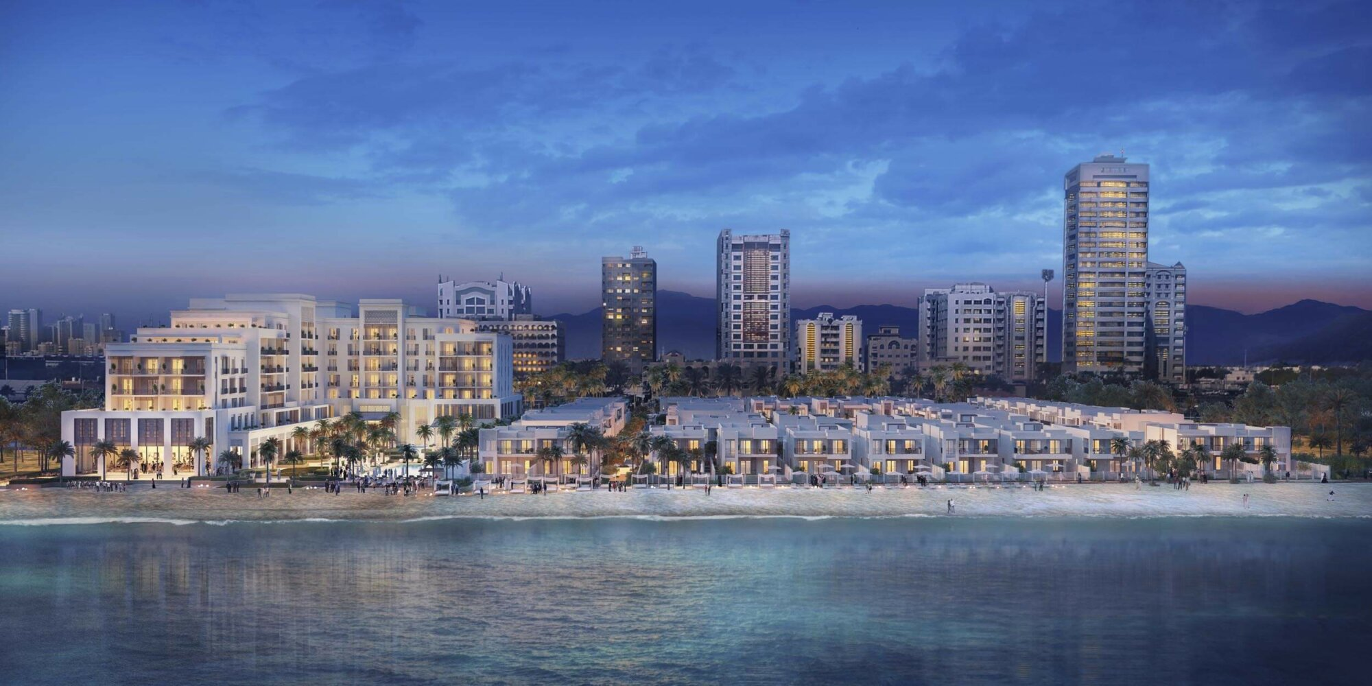 A render of The Address Fujairah Resort Real Estate near Dubai